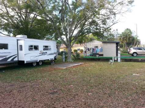 Yankee Traveler RV Park in Largo Florida Backin RV Site