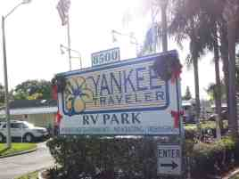 Yankee Traveler RV Park in Largo Florida Sign