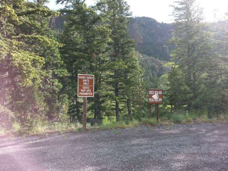 newton-creek-campground-cody-warning