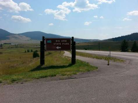 big-arm-state-park-big-arm-montana-sign