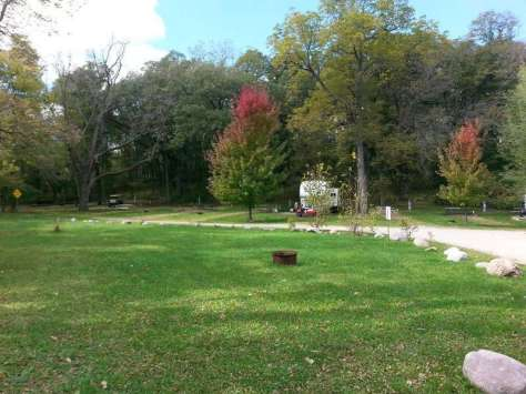 Deer Valley Lodge Campground in Ventura Iowa Open Area and Sites