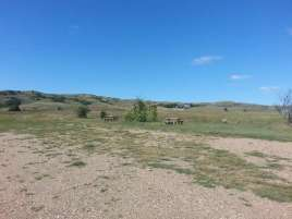 Dude Ranch Primitive Campground near Oacoma South Dakota Camping Area