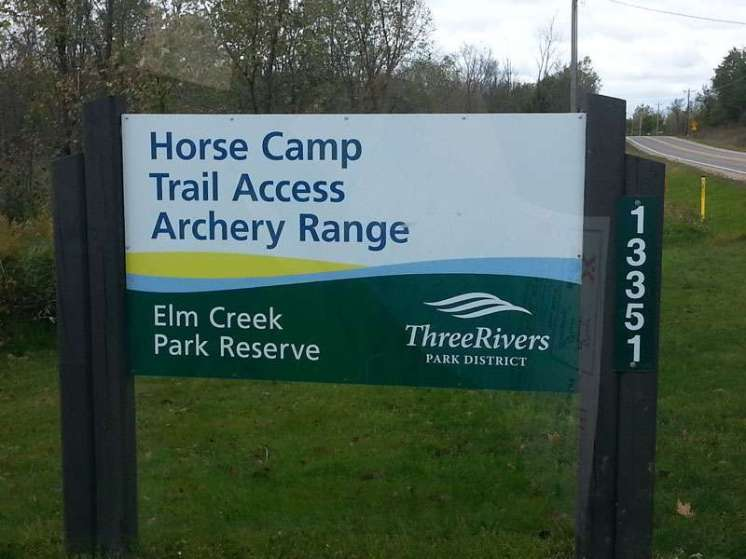 Elm Creek Park Reserve Horse Camp near Dayton Minnesota Sign