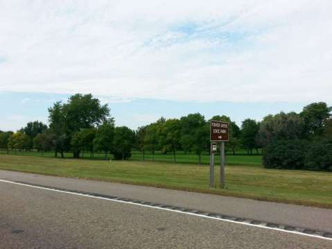Fisher Grove State Park Campground near Frankfort South Dakota Sign