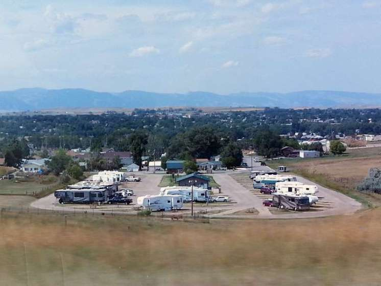 Peter D's RV Park Sheridan Wyoming From Highway