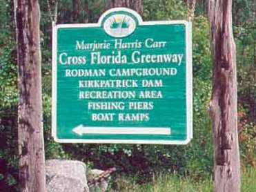 Rodman Campground near Palatka Florida Sign