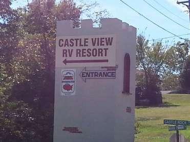 Castle View RV Resort in Branson West Missouri Sign