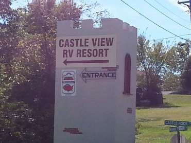 Castle View RV Resort in Branson West Missouri Sign