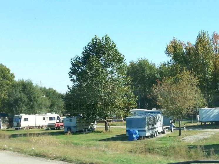 Hwy 60 RV Park Dexter Missouri View from Hwy 60