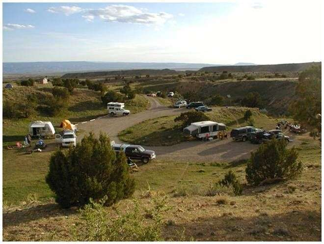 North Fruita Desert Campground 10 miles north of Fruita Colorado Overview