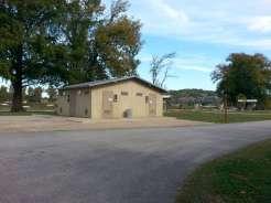 River Run Campground in Forsyth Missouri COE bath house