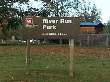 River Run Campground in Forsyth Missouri COE sign
