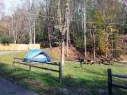 Camp LeConte Luxury Outdoor Resort in Gatlinburg Tennessee tent sites