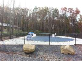 Smoky Mountain Premier RV Resort near Cosby Tennessee Pool (Closed for season in this photo)