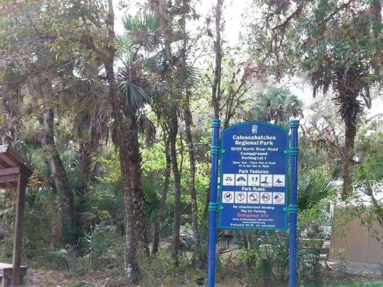 Caloosahatchee Regional Park in Alva Florida