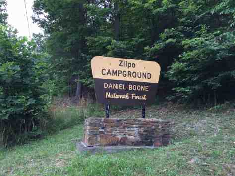 Zilpo Campground Daniel Boone National Forest Salt Lick