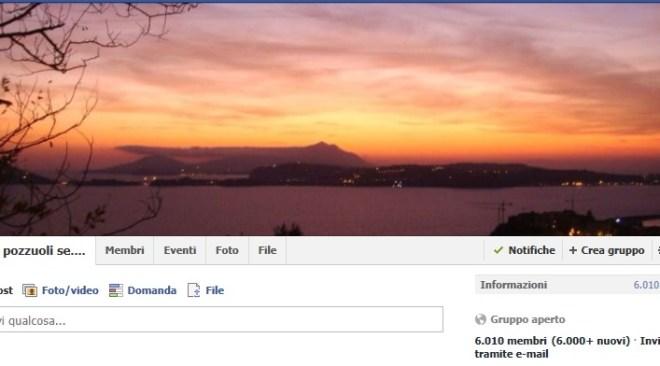 """Facebook, il gruppo """"Se sei di Pozzuoli…"""" oltre 6mila membri e migliaia di post in soli quattro giorni"""