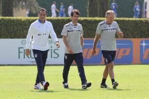 Di Palma con Cesare Prandelli e Gabriele Pin