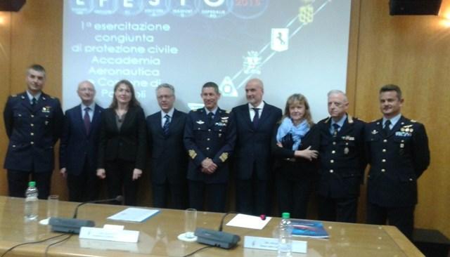 Emergenza, prove di protezione civile fra città e l'Accademia Aeronautica