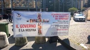Un momento della protesta - Foto di Felice Siniscalchi