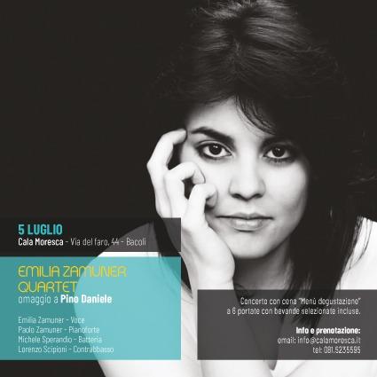 PJF, presentato il programma, sarà Emilia Zamuner Quartet al Cala Moresca di Bacoli ad aprire l'edizione 2018