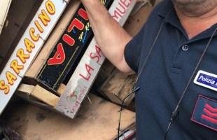 Bacoli,task force anti-falo' sequestro di legname dei vigili urbani