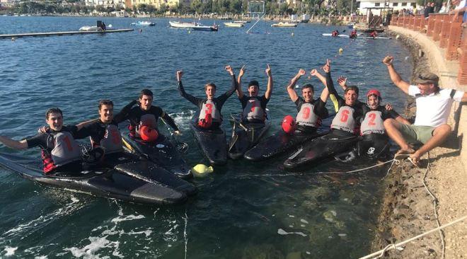Terzo posto per il Canoa Club Napoli nel campionato under 21 sul lago Miseno