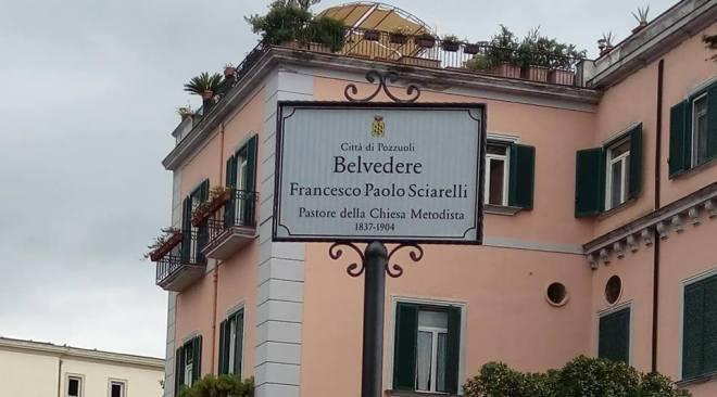 Pozzuoli, ieri la cerimonia d'intitolazione al pastore Sciarelli del belvedere di via Rosini