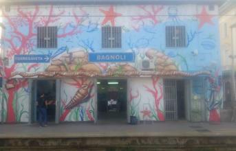 Cumana, rinasce la stazione di Bagnoli grazie ad un gruppo di writers