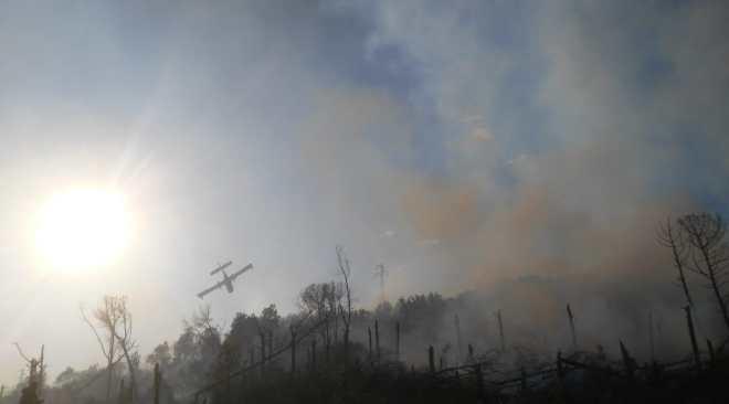 Incendio Montenuovo, canadir in azione: residenti lasciano le case