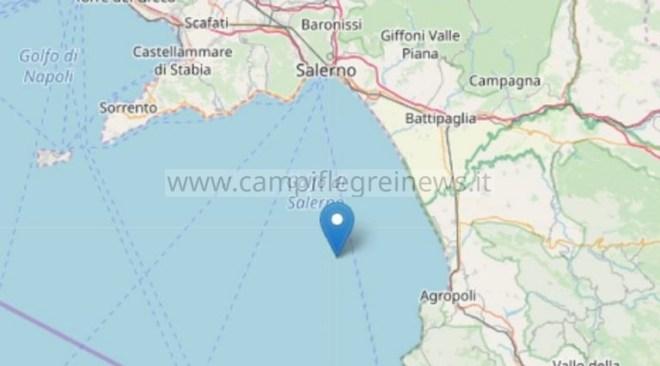 Terremoto di magnitudo 3.1 nel Golfo di Salerno tra Battipaglia e Agropoli alle 4,33 di stanotte