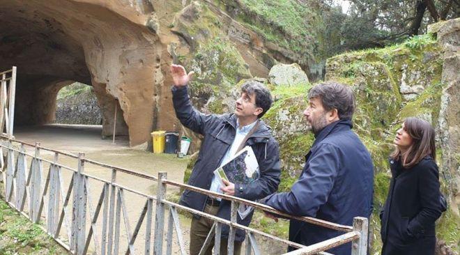 Il ministro Franceschini in visita privata al Parco di Cuma e alla Piscina Mirabilis - LE FOTO