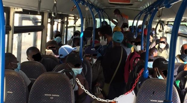 Ctp, assembramenti alla fermata: il bus non parte interviene la polizia