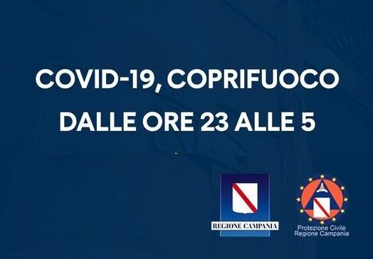 Covid, dalle ore 23 alle 5 coprifuoco fino al 13 novembre