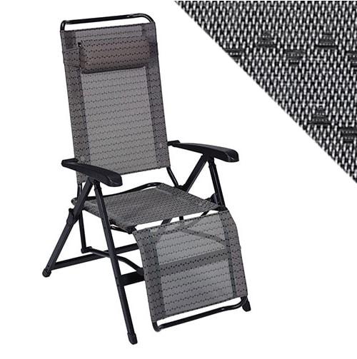 fauteuil de camping alu dossier haut moka
