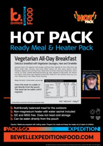 All Day Vegetarian Breakfast Hot Pack