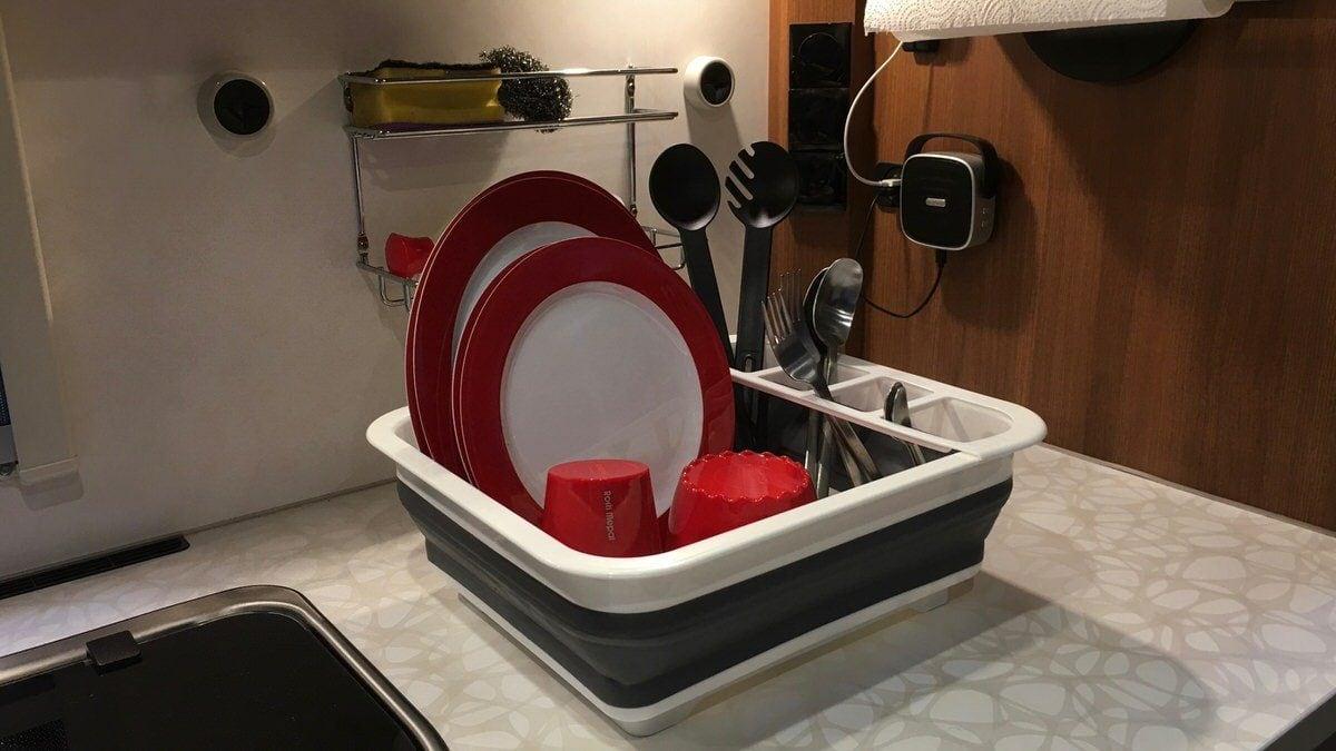 WENKO Abtropfgestell für Geschirr und Besteck Geschirrabtropfer faltbar