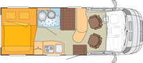Planlosning for bobilen Bürstner Brevio