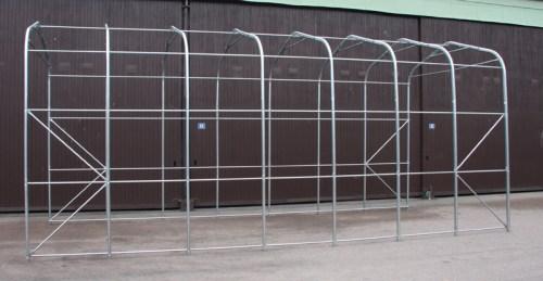 Vinterlagring av bobiler - Teltene er av galvanisert stål