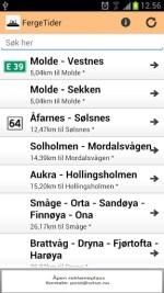 APP for fergeavganger i Norge