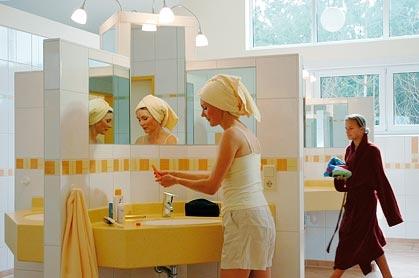 Toalett og dusj på campingplassen