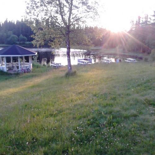 Badeområde ved Gjetsjøen i nærheten av Trysil