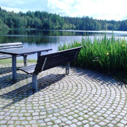 "En lekket rasteplass i Sverige langs ""Innlandsvegen"""