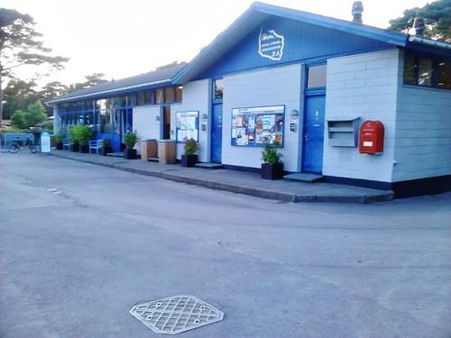 Resepsjonen - butikk og Service hus på Balka Strand Familiecamping