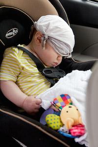 Tips til å pakke i bobil, husk bilstol til barna