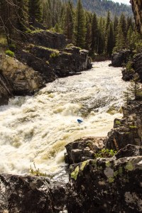 """If you put in on Marsh Creek, you'll come to Dagger Falls just before the """"normal"""" put-in at Boundary. There is a well established portage trail through the campground, but it's also a great rapid if you feel up for it!"""