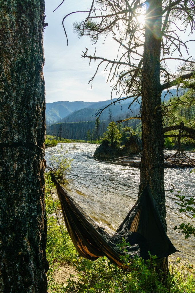 Hard to beat hammocks on the side of the river in the summer.