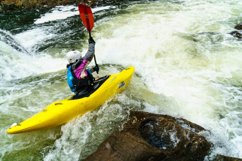 The Housatonic River in CT has a number of classic whitewater sections. You can link them up by paddling from Great Falls through Bull's Bridge and add on a long section of scenic class I-III with great developed and undeveloped camping.