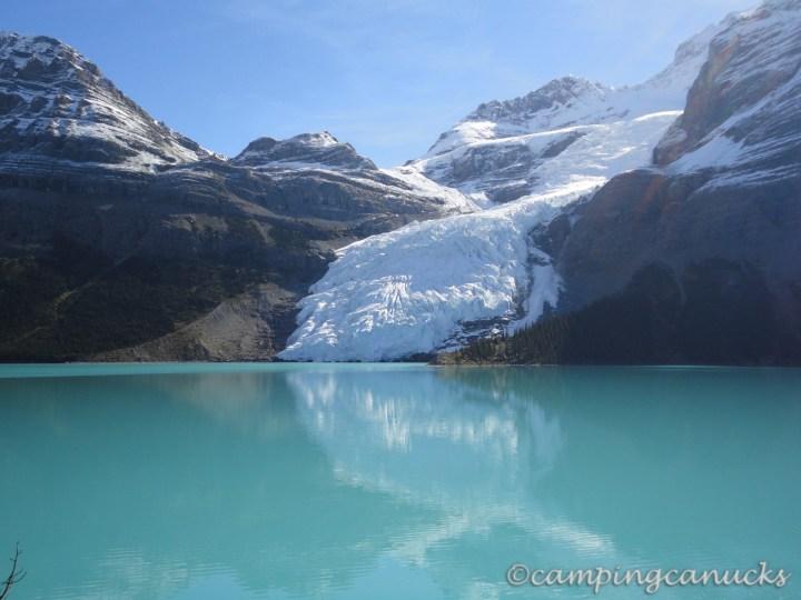 The Berg Glacier spilling into the lake