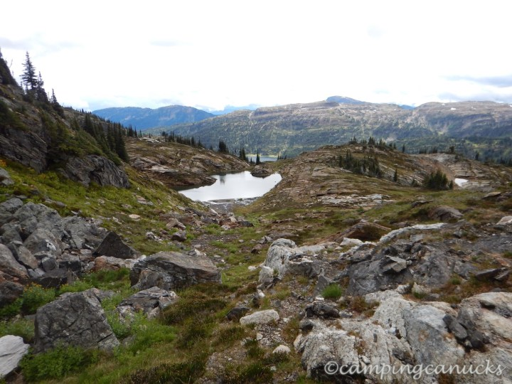 One of several alpine lakes along the way